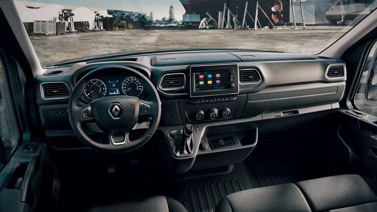 Renault Master interiér, master z vnútra, lacný prenájom l3h2, l2h2