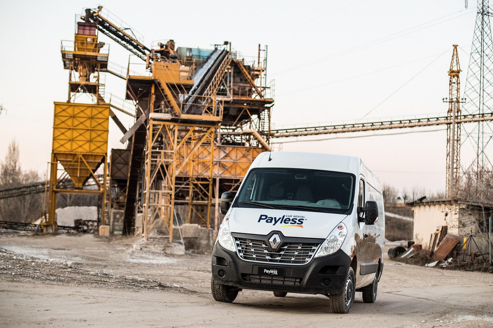 Renault Master v Payless car rental, úžitkové vozidlá na prenájom