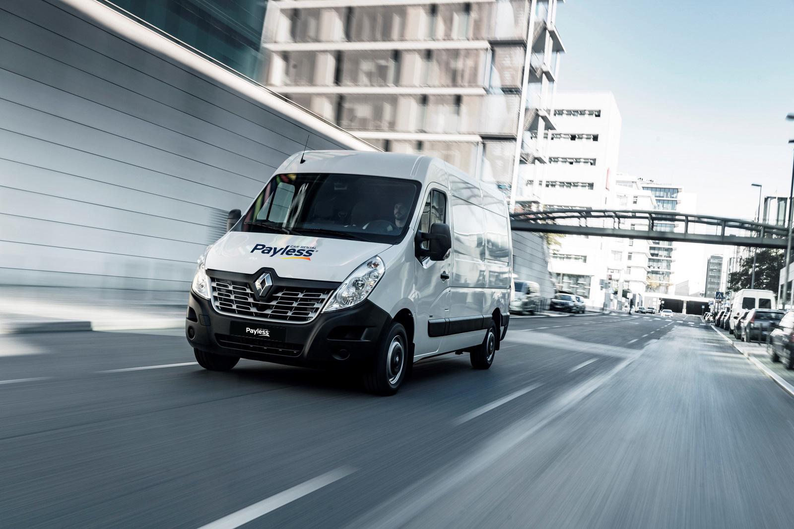 Renault Master v Payless car rental, úžitkové autá na prenájom, L3H2 požičanie dodávky
