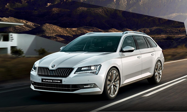 nová Škoda Superb v striebornej metalíze, nízka spotreba, vysoká výbava